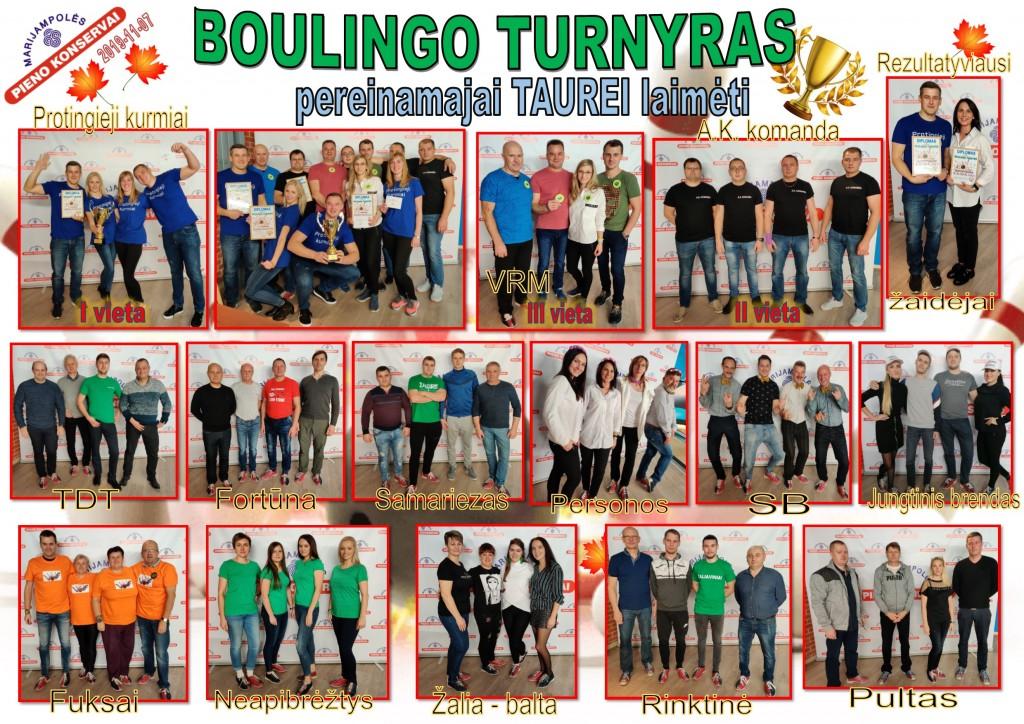 Boulingo rudens turnyras 2019